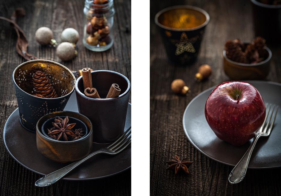 Dekoelemente für Foodfotografie