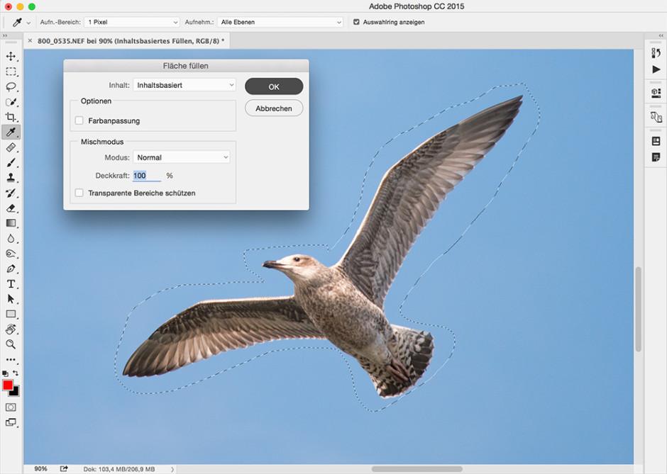 Inhaltsbasiertes Füllen in Photoshop
