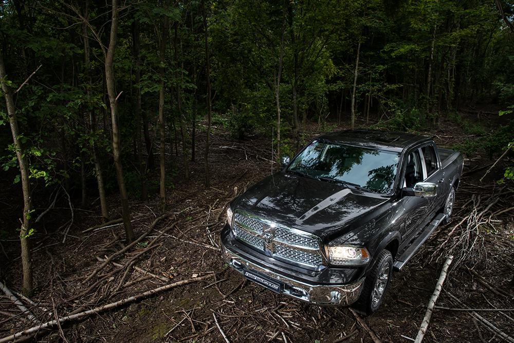Autofotografie – Pickup im Wald / Foto: Stefan Dokoupil